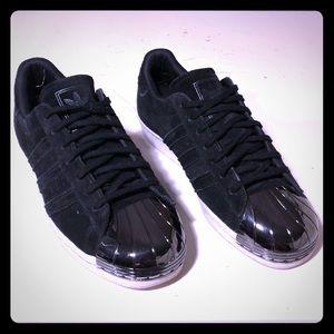 Adidas Metal Toe Sneakers Black Suede Men's 9.5
